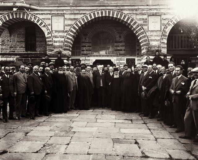 Η επίσκεψη του πρωθυπουργού  της Ελλάδας Ελευθερίου Βενιζ�λου στην Μονή το 1927.