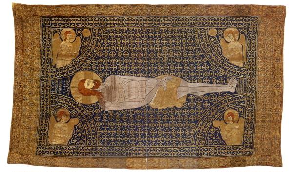 Ο επιτάφιος της Μονής Βατοπαιδίου (14ος αιώνας), δώρο του αυτοκράτορα Ιωάννη Στ' Καντακουζηνού