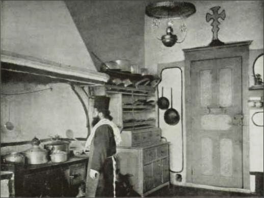 Vatopedi - kitchen of the guesthouse