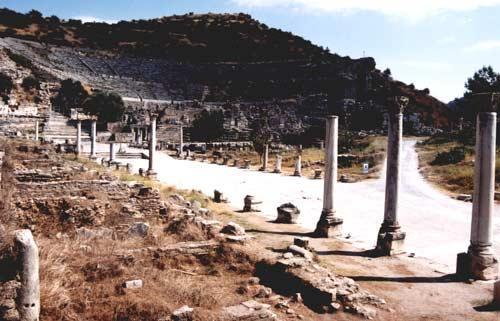 Άποψη της αρχαίας Εφέσου