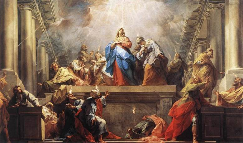 The Pentecost. Painting by Jean Restout (1732).