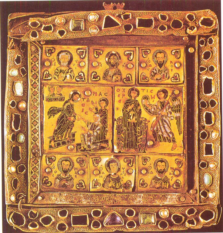 Εσμαλτωμένη εικόνα - εγκόλπιο από την Ι. Μονή Σεμοκμέδι (Γεωργία, 10ος αι.). Μουσείο Τέχνης της Γεωργίας, Τιφλίδα.