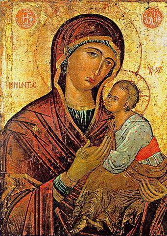 Παναγία η Αμίαντος. Έργο του 15ου αι. ΙΜ Τοπλού (Κρήτη).