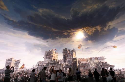 H πτώση όπως την αποδίδει Τούρκος καλλιτέχνης (c) worldbulletin