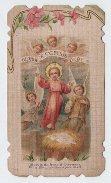 """ΔΟΞΑ ΕΝ ΥΨΙΣΤΟΙΣ ΘΕΩ. """"Ο Ιησούς είναι ο φίλος της αθωότητας, γι' αυτό φέρ' Του μια καθαρή καρδιά."""""""