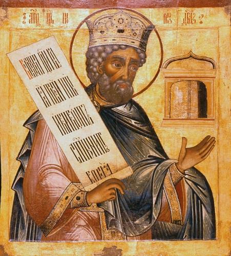 Ρώσικη εικόνα του προφήτη Δαβίδ, του συγγραφέα των Ψαλμών.