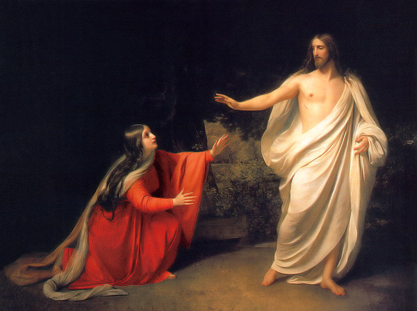 Η εμφάνιση του Χριστού στη Μαρία τη Μαγδαληνή. Πίνακας του Alexander Ivanov (1835).