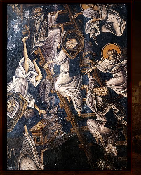 Fresco detail from Vatopedi Monastery (Ascending to Heaven)