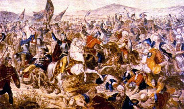 Kosovo battle (1389) painted by Adam Stefanovic , 1870-1871