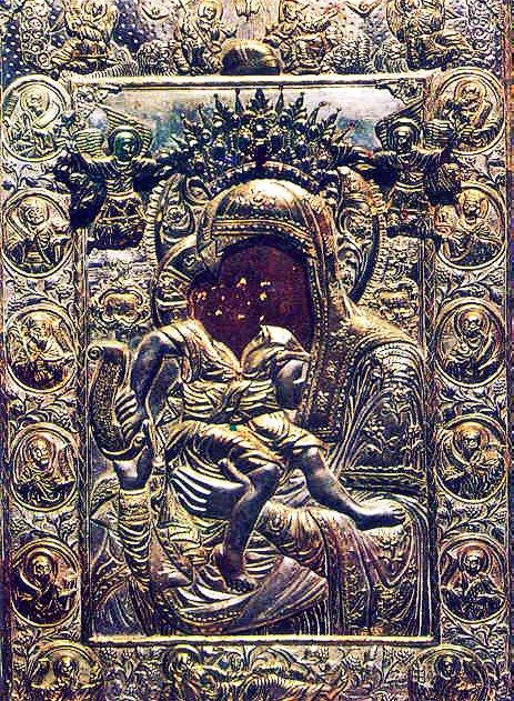 Αποτέλεσμα εικόνας για Η ΠΑΝΑΓΙΑ ΤΟΥ ΑΞΙΟΝ ΕΣΤΙ στο πρωτατο αγιου ορους