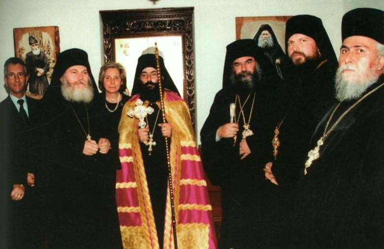 Από την ενθρόνιση του 1ου ηγουμένου της Μονής (νυν Θεοφιλεστάτου Χωρεπισκόπου Αμαθούντος) κ.κ. Νικολάου.