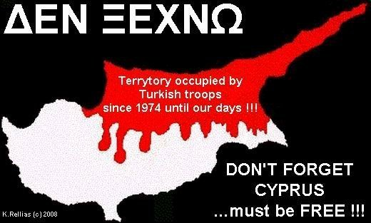 CYPRUS MUST BE FREED AFTER 35 YEARS OF TURKISH OCCUPATION