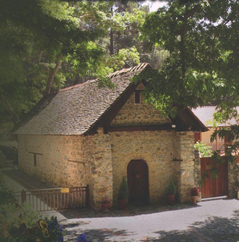 Εξωτερική άποψη του Καθολικού της Ιεράς Μονής Τιμίου Προδρόμου Μέσα Ποταμού