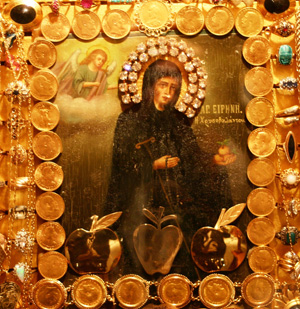 Η θαυματουργική εικόνα της Αγίας Ειρήνης Χρυσοβαλάντου στην Αστόρια της Νέας Υόρκης.