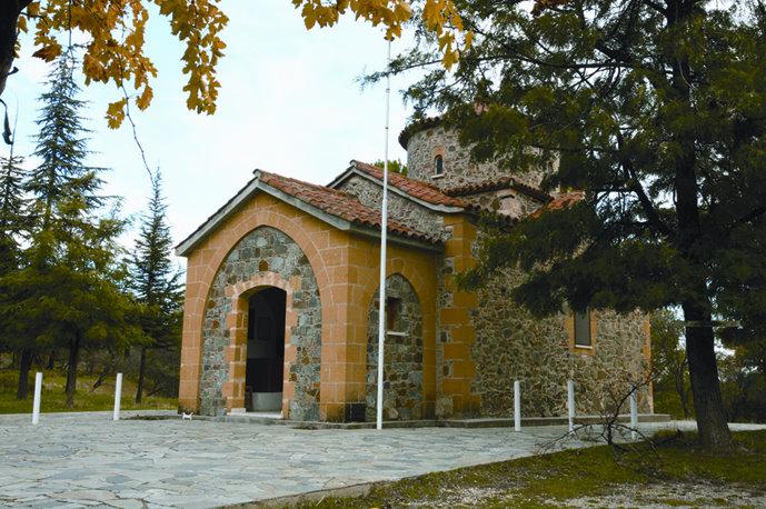 Το παρεκκλήσιο του αγίου Ονουφρίου, το οποίο ανεκαίνισε ο άγιος Ιερομάρτυς Κυπριανός