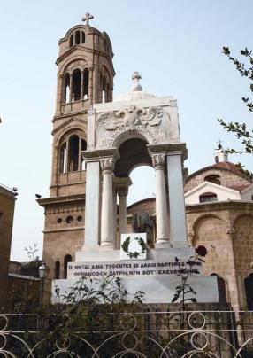 Το Μαυσωλείο των Εθνομαρτύρων. Ιερός Ναός Παναγίας Φανερωμένης.