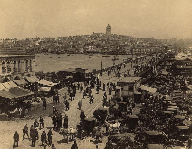 Άποψη του Γαλατά τον 19ο αιώνα.
