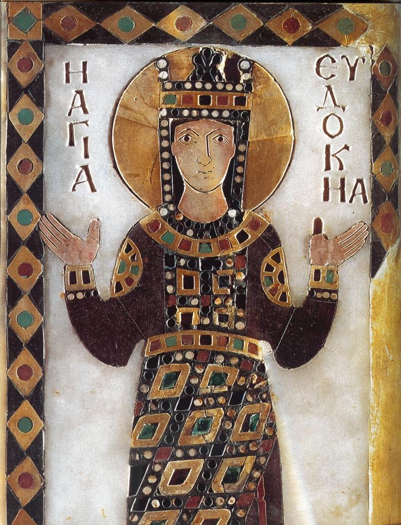 Η αγία αυτοκράτειρα Ευδοκία. Εικόνα του 10ου αιώνα. Αρχαιολογικό Μουσείο Κωνσταντινούπολης.