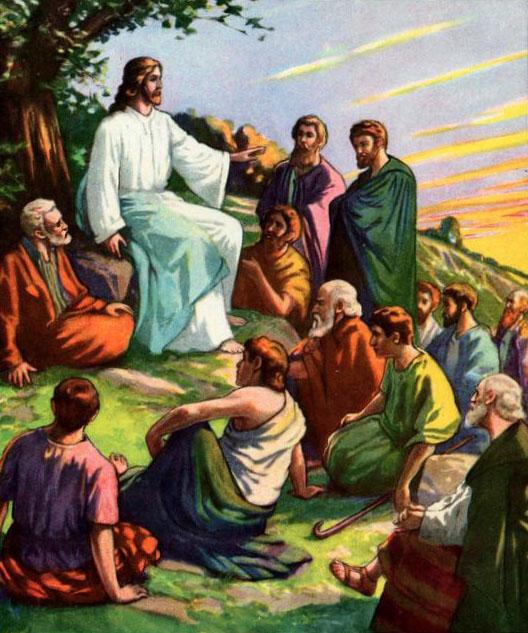 jesus teaching how to pray