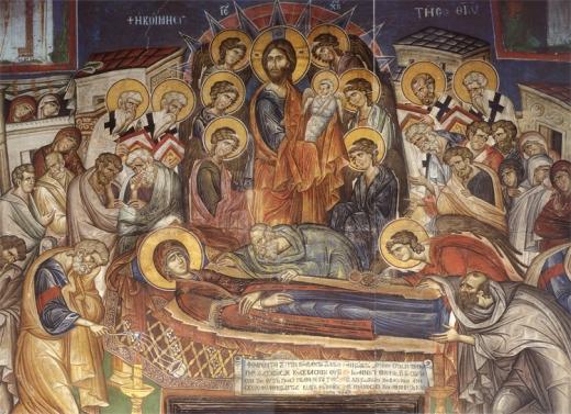 Αποτέλεσμα εικόνας για εικονα κοιμησεως θεοτοκου