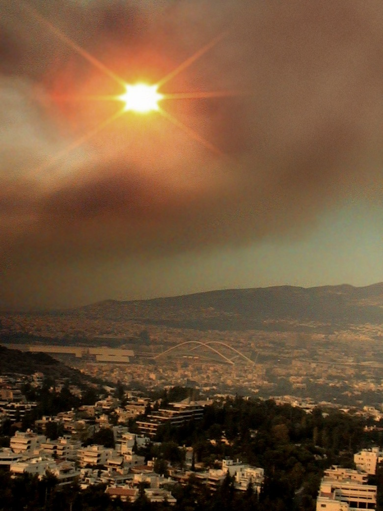 smoke over athens