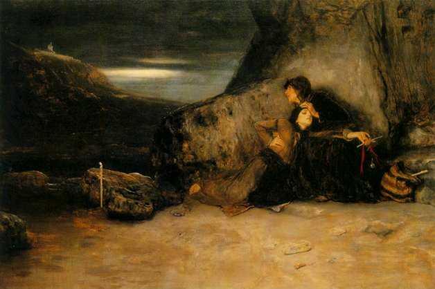 Το τάμα. Πίνακας του Νικόλαου Γύζη (1874). Αθήνα, Εθνική Πινακοθήκη.