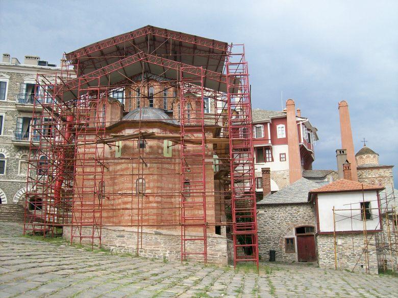 Το παρεκκλήσιο της Αγίας Ζώνης στην Ιερά Μεγίστη Μονή Βατοπαιδίου.