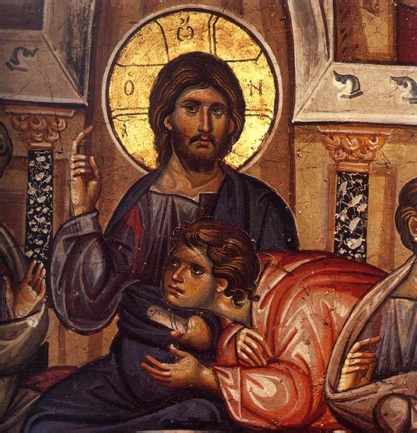 Τοιχογραφία από την Ιερά Μεγίστη Μονή Βατοπαιδίου