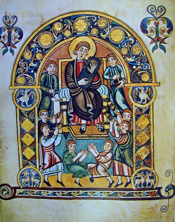 Ο προφητάναξ Δαυίδ γράφει τους Ψαλμούς