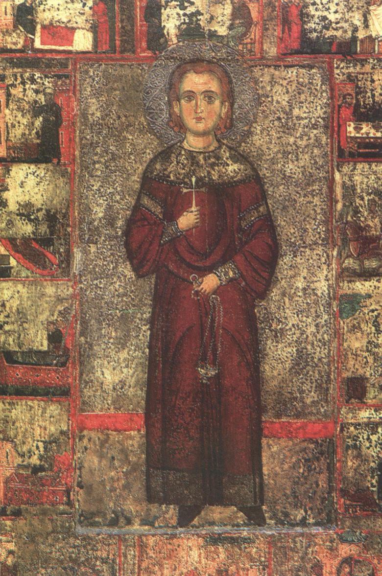 Ο Άγιος Ιωάννης ο Λαμπαδιστής (Φορητή Εικόνα 13ου αιώνα).