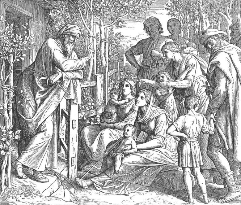 Ο Ιησούς γιος του Σειράχ (συγγραφέας του βιβλίου Σοφία Σειράχ) διδάσκει τον λαό. Σχέδιο του γερμανού ζωγράφου Julius Schnorr von Carolsfeld (1794-1872).