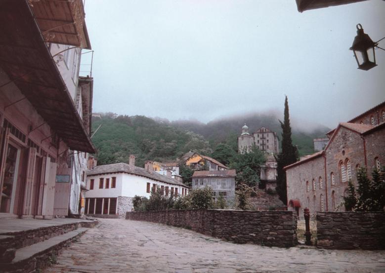 Δρόμος νοτίως του Πρωτάτου. The road south of the Protaton.