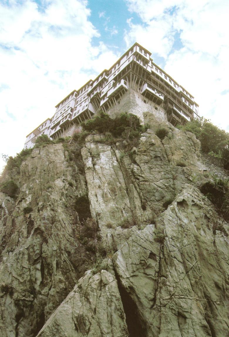Η Μονή του Προφήτου Προδρόμου ή Νέα Πέτρα. The Monastery of Dionysiou, or Nea Petra (New Rock).