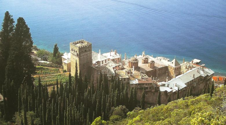 Βορειοανατολική άποψη της Μονής. The monastery from the northeast.