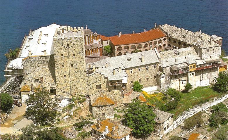 Η Ιερά Μονή Παντοκράτορος. Πανοραμική άποψη. A panorama of Pantokratoros's Monastery.