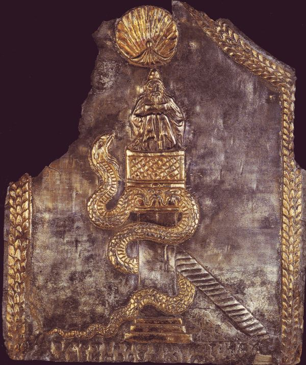 Αργυρεπίχρυση πλάκα του 6ου ή 7ου αιώνα στο Μουσείο του Λούβρου στο Παρίσι.