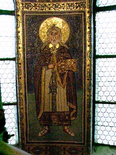 Ο προφήτης Ζαχαρίας. Ψηφιδωτό του 6ου αιώνα στην πανέμορφη βυζαντική βασιλική του Ευφράσιου στο Porec της Κροατίας.
