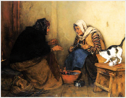 The Gossip. Painting of Nikolaos Gyzis