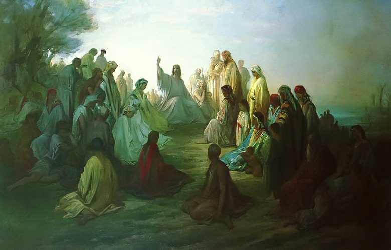 Jesus Preaching Sermon on the Mount Gustave Dore