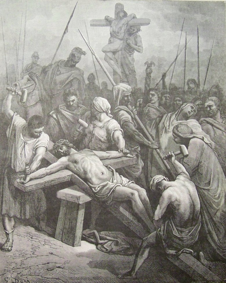 jesus nailed to the cross