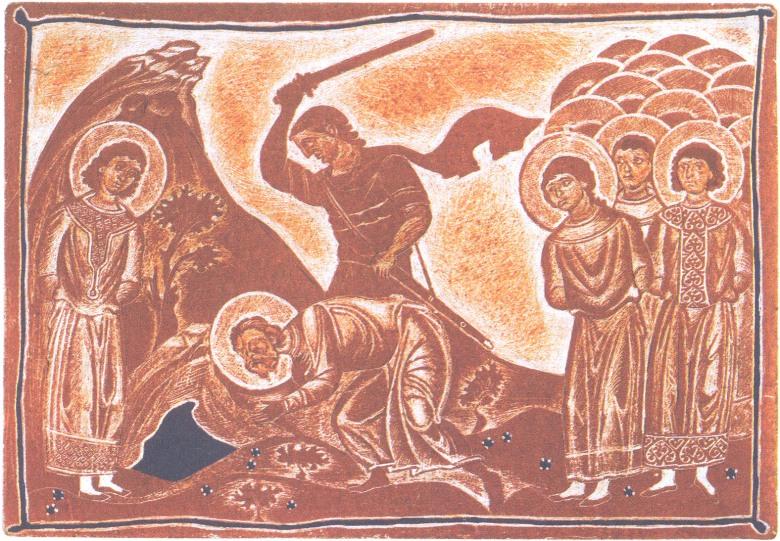 """Το μαρτύριο του αγίου Αρέθα και των συν αυτώ. Έργο του Πέρη Ιερεμιάδη. Από τον """"Νέο Συναξαριστή της Ορθοδόξου Εκκλησίας"""", εκδ. Ίνδικτος."""