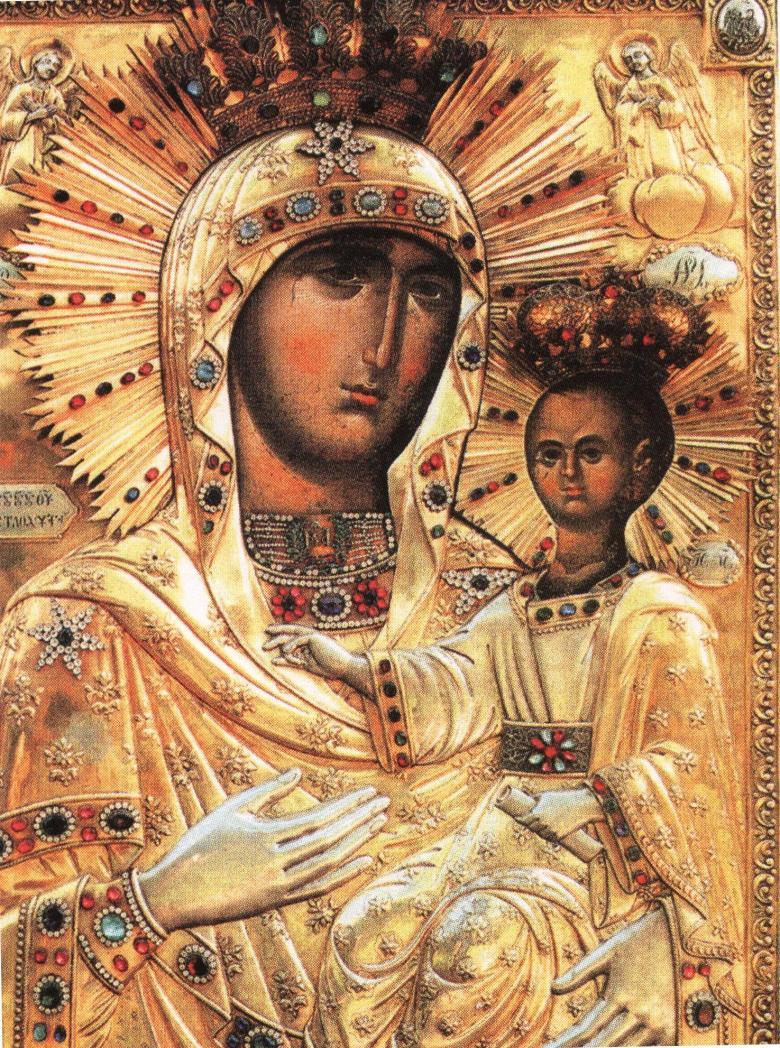 Η θαυματουργή εικόνα της Παναγίας Λυδιάνκα στην Μονή Νεάμτς, δώρο του Μανουήλ Παλαιολόγου στον Ρουμάνο ηγεμόνα Αλέξανδρο τον Καλό.