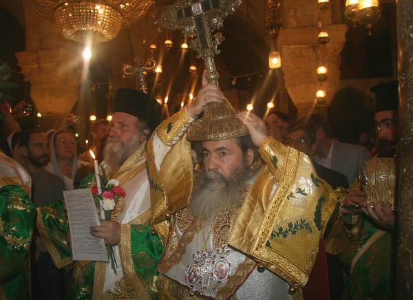 PF Teofil, litanie cu Sf. Cruce