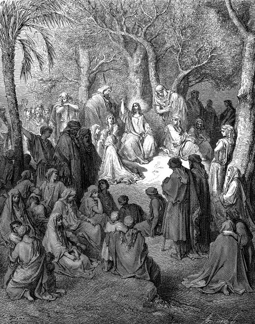 The Sermon On The Mount by Gustav Dore