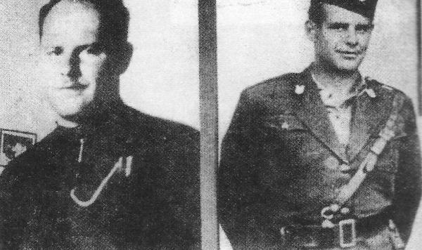 """Ο Φραγκισκανός μοναχός Μίροσλαβ Φιλίποβιτς Μαϊστόροβιτς, ο επονομαζόμενος """"Πατήρ Σατανάς"""" και Διοικητής του στρατοπέδου συγκέντρωσης Γιασένοβατς με το ράσο του Καθολικού μοναχού και με τη στολή των ούστασι"""