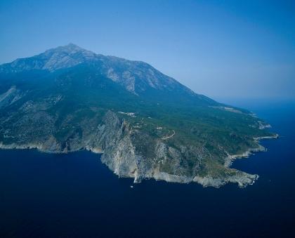 Άγιο Όρος, αεροφωτογραφία