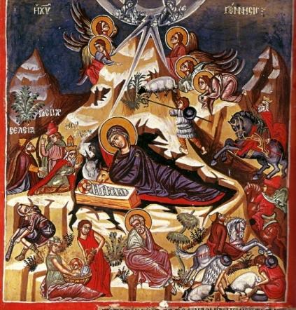 Γέννηση του Χριστού- Τοιχογραφία 1