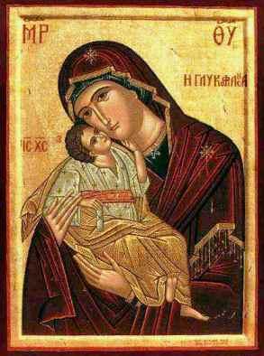 Theotokos vizantini texni_ Glykofilousa_