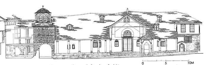 Εικ. 10. Μεγίστη Λαύρα. Οικοδομικό συγκρότημα τράπεζας. Ανατολική όψη.