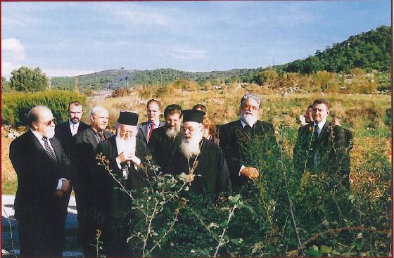 Επίσκοπος Πατάρων Ειρηναίος μαζί με τον Οικουμενικό Πατριάρχη στα Πάταρα